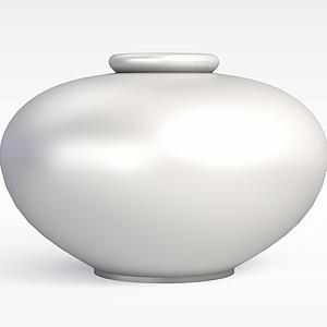 現代陶罐模型3d模型