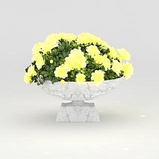 景观花坛3d模型3d模型