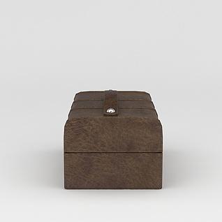 高档皮箱3d模型