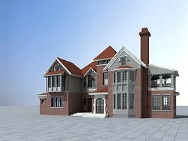 欧式二层别墅3d模型