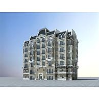 欧式多层住宅建筑3D模型3d模型