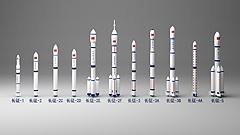 3D長征系列火箭模型
