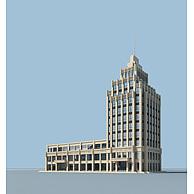 宾馆大楼3D模型3d模型