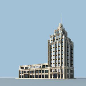 3d宾馆<font class='myIsRed'>大楼</font>模型