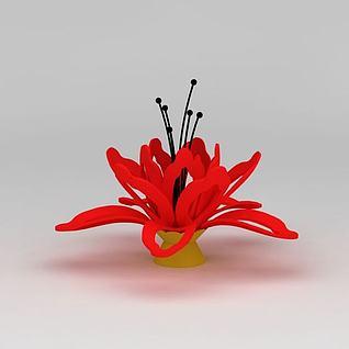 木棉花雕塑3d模型