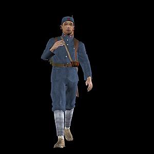 红军人物模型