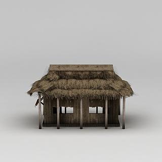 茅草屋3d模型
