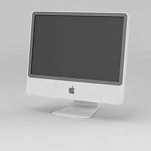 3d台式苹果<font class='myIsRed'>电脑</font>显示器模型