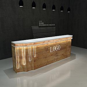 原木接待臺模型3d模型