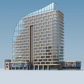 现代风格办公楼3d模型