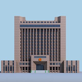 公安办公楼3d模型