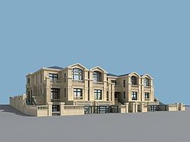 保利别墅3d模型