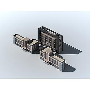 办公楼群3d模型3d模型