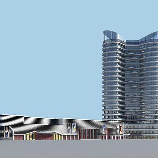 特乙甲办公楼3d模型