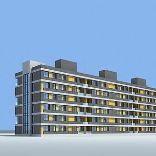时尚办公楼3d模型