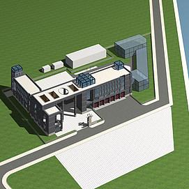 3d消防站模型