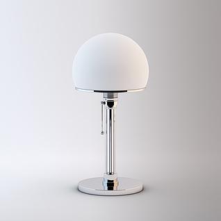 时尚半球台灯3d模型