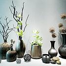中式干枝花艺器皿组合模型