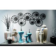 中式陶瓷花瓶摆件墙饰组合3D模型3d模型