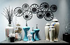 中式陶瓷花瓶摆件墙饰组合模型3d模型