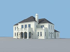 e户型别墅3d模型