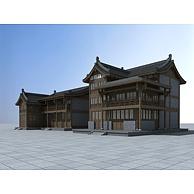 古建商业楼3D模型3d模型