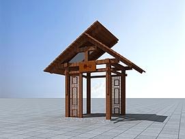 静心亭3d模型