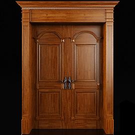 实木入户门3d模型