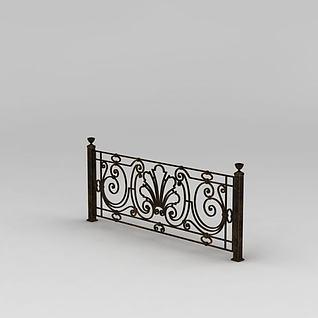 铁艺栏杆3d模型