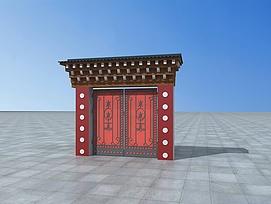 藏式大门3d模型