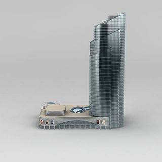 现代办公大厦3d模型