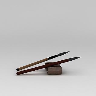 毛笔3d模型3d模型