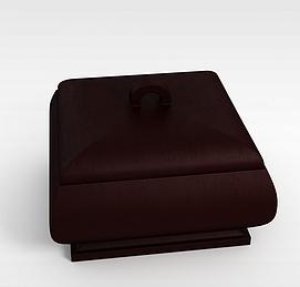 酒红色珠宝盒3d模型