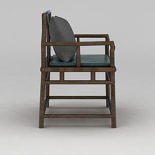 仿古中式椅子3d模型3d模型