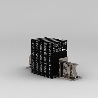 金属字母书立3d模型3d模型