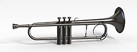 乐器小号模型