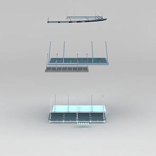 雨篷3d模型