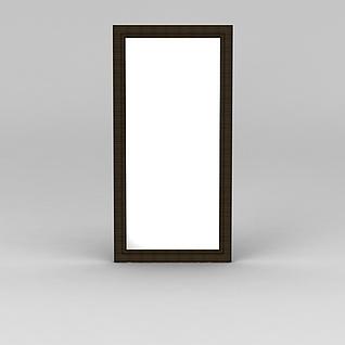 实木穿衣镜3d模型