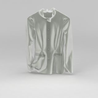 白色丝绸睡衣3d模型