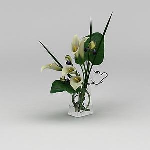 插花花瓶摆件模型3d模型