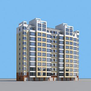 小高層住宅樓模型3d模型
