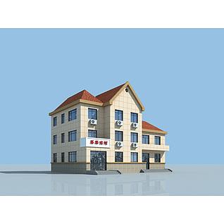 简约宾馆建筑3d模型3d模型