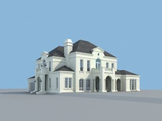 别墅c户型3d模型