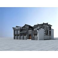 中式商业建筑3D模型3d模型