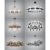 工艺个性吊灯组合3D模型3d模型