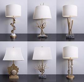 现代客厅创意台灯模型