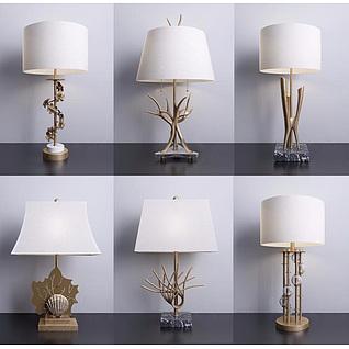 现代客厅创意台灯3d模型