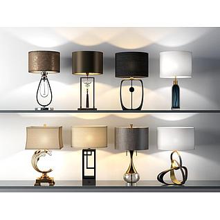 现代艺术台灯3d模型
