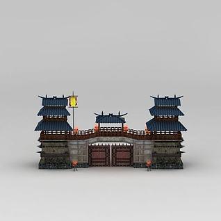 寨门3d模型