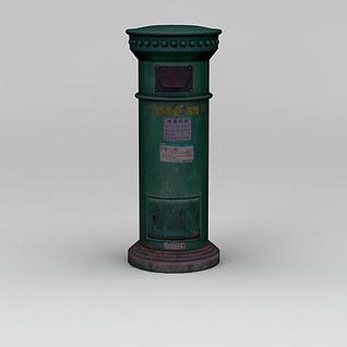 邮政邮筒3d模型